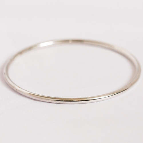 Handmade Simple Silver Bangle 1