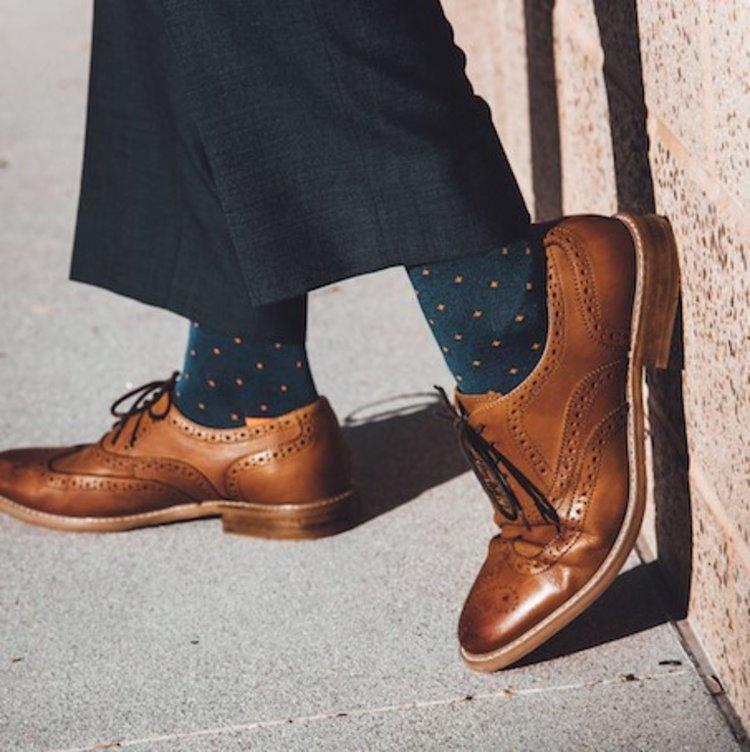Orange Spotted Bamboo Socks