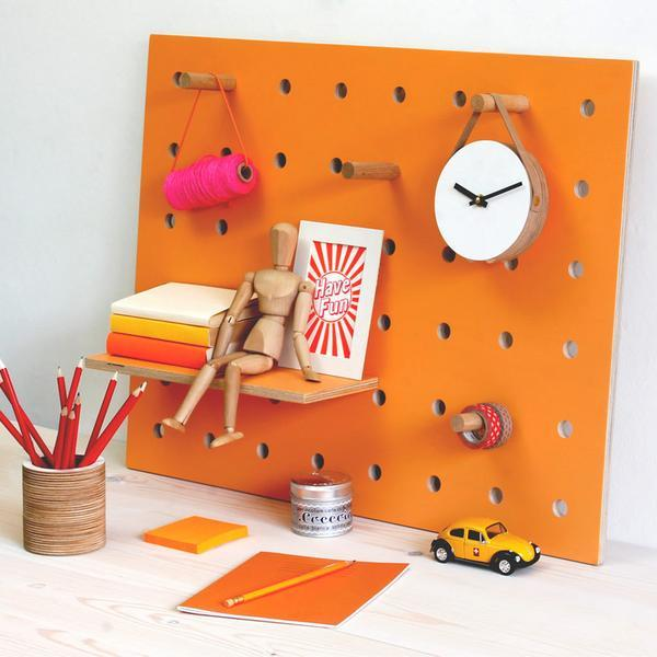 Kreis Design - Peg-it-all Little Pegboard Orange