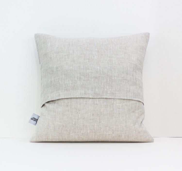 Linen & Stripes - Geometric Cushion Cover 5