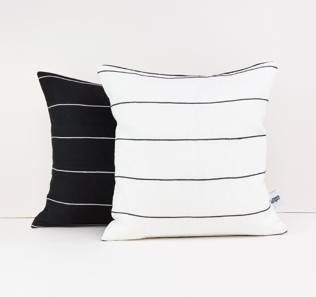 Linen & Stripes - Striped Cushion Cover 1