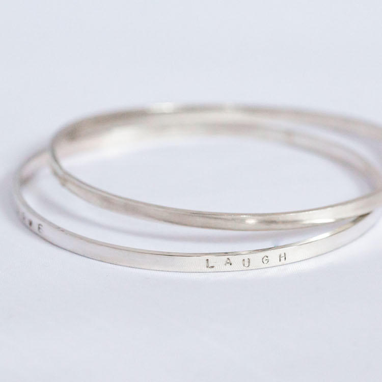 Personalised Silver Bangle 2