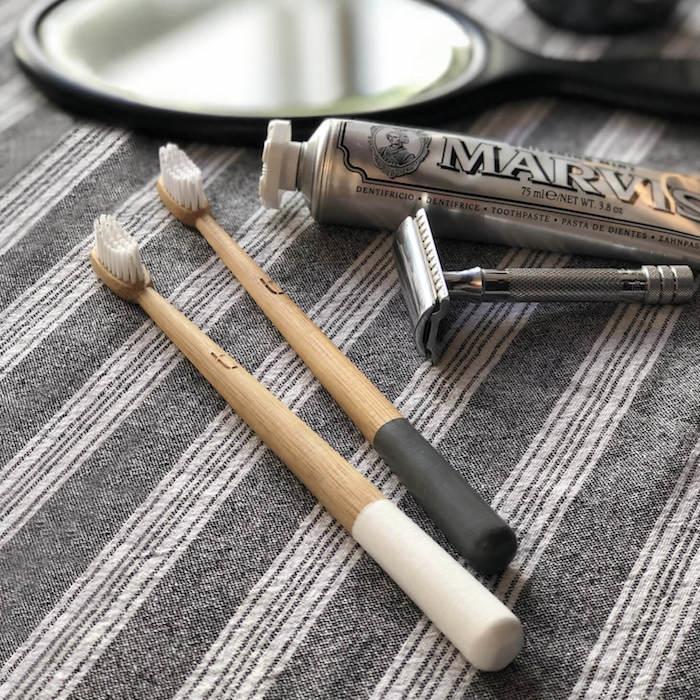 Grey Environmentally Friendly Toothbrush Zero Waste