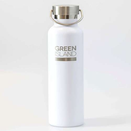 600ml White Stainless Steel Water Bottle