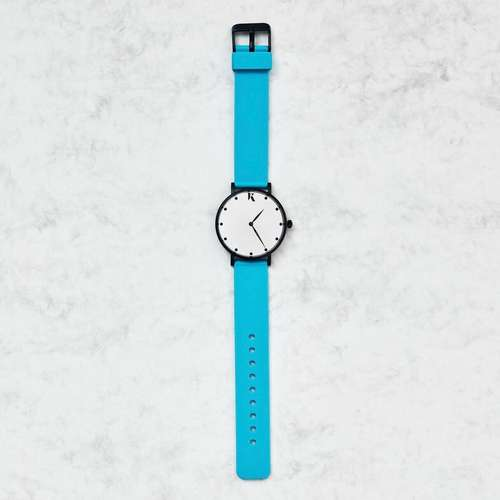 Neon Blue Silicone Watch