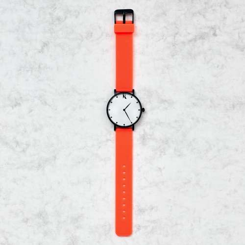 Neon Orange Silicone Watch