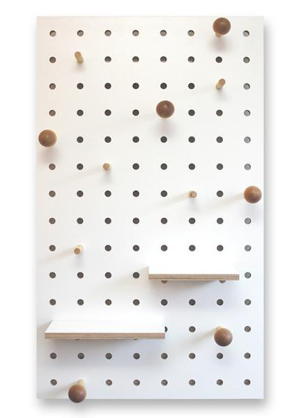 White pegboard option C