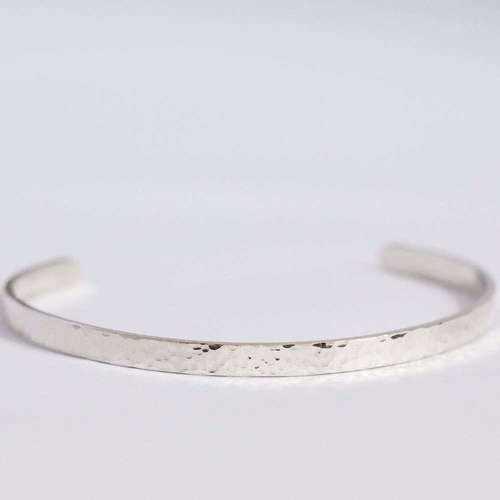 Smoke and Ash - Plain Silver Cuff 1