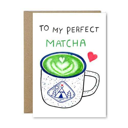 Perfect Matcha - Recycled Greeting Card