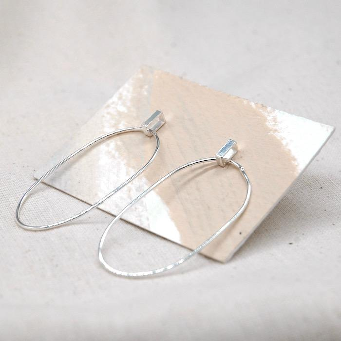 Abstract Dangle Earrings With Rectangle Fixing