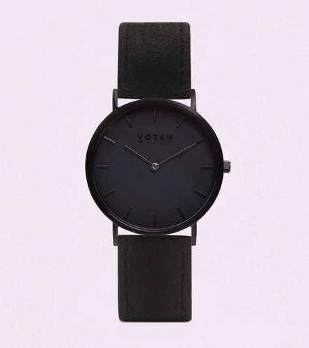 Black Pineapple Leather Watch