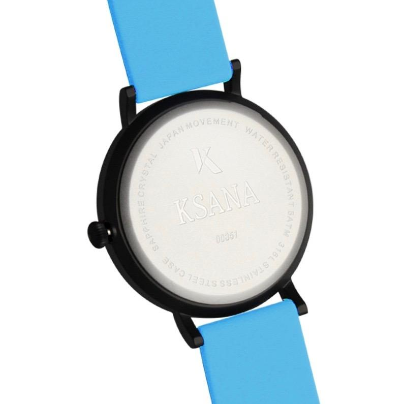 Neon Blue Silicone Watch - Back