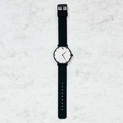 Jet Black & Black Silicone Watch