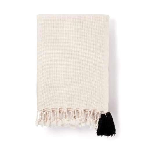 Cream Pom Pom Throw
