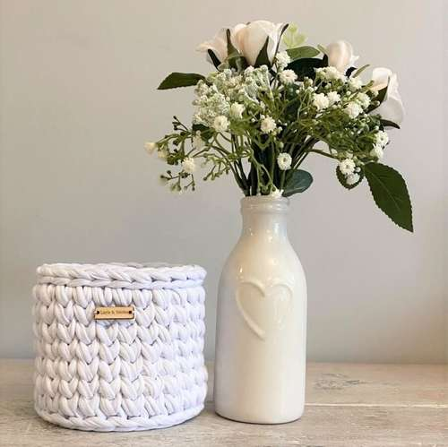 Recycled White Basket