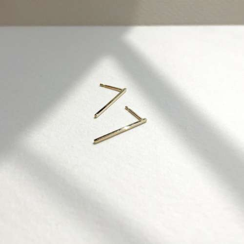 Lina Recycled Gold Bar Studs