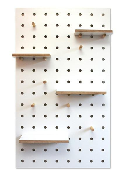 White pegboard option D