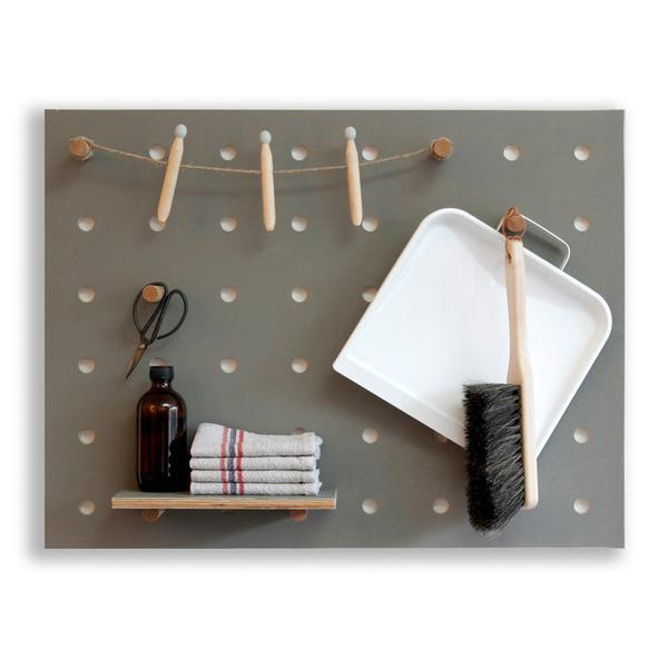 Kreis Design - Peg-it-all Little Pegboard Greay