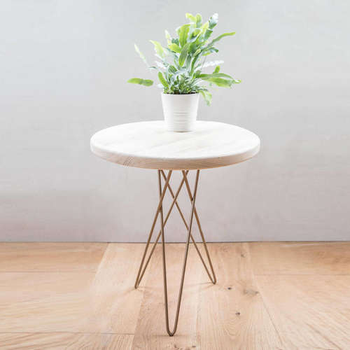 Made Anew - Hairpin Leg Round Side Table 2