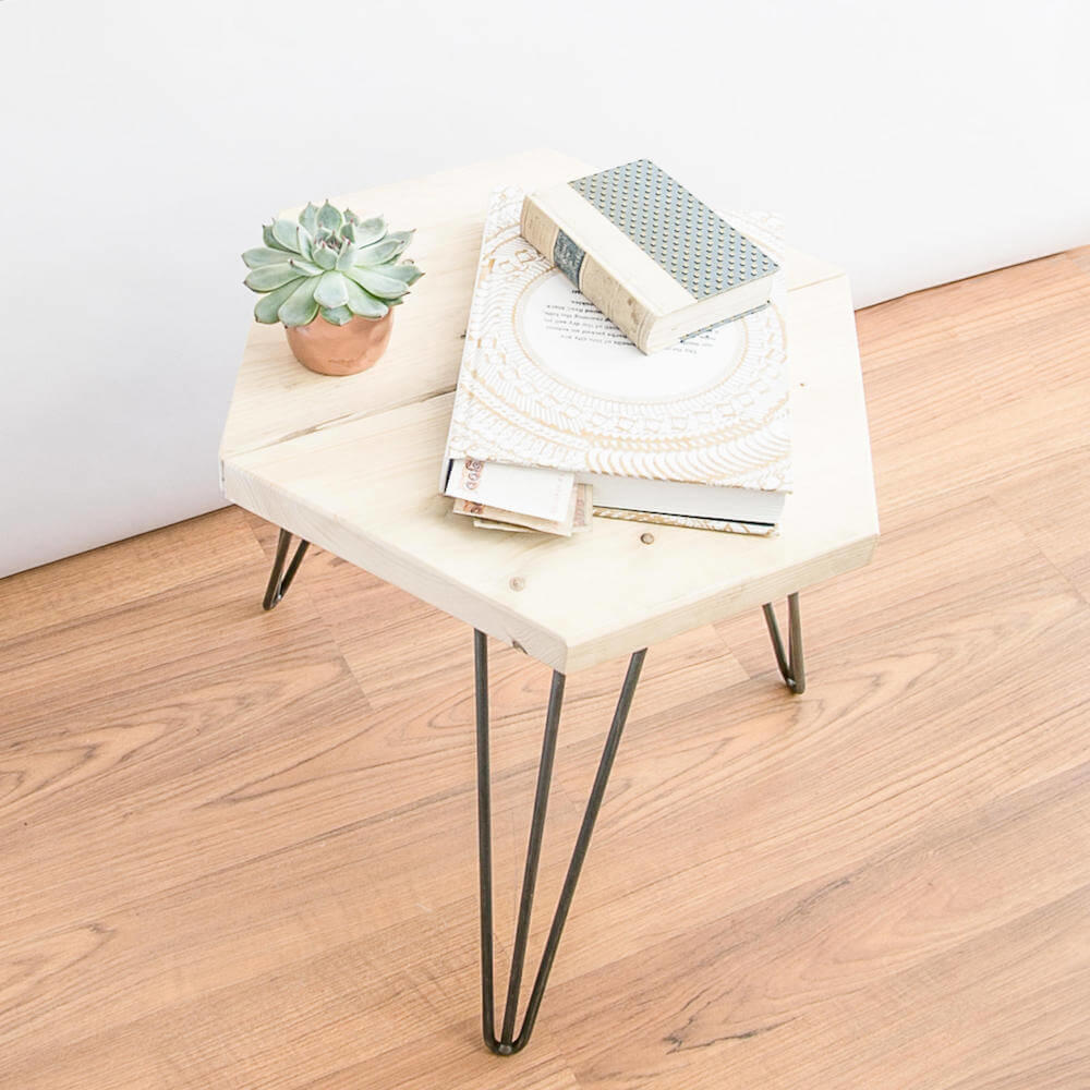 Made Anew - Hexagon Side Table 10