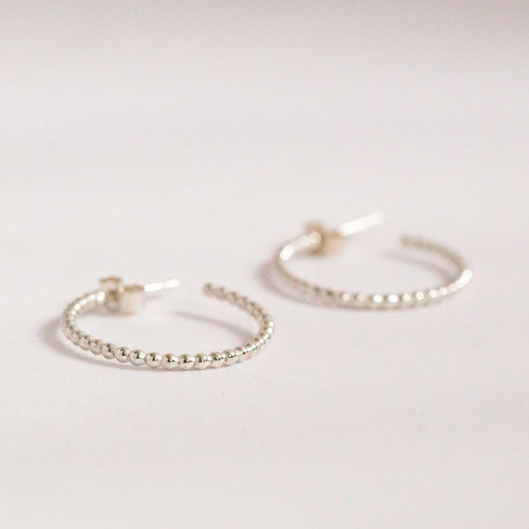 Bubble Hoop Earrings