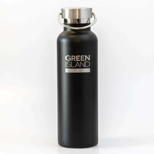 600ml Black Stainless Steel Water Bottle
