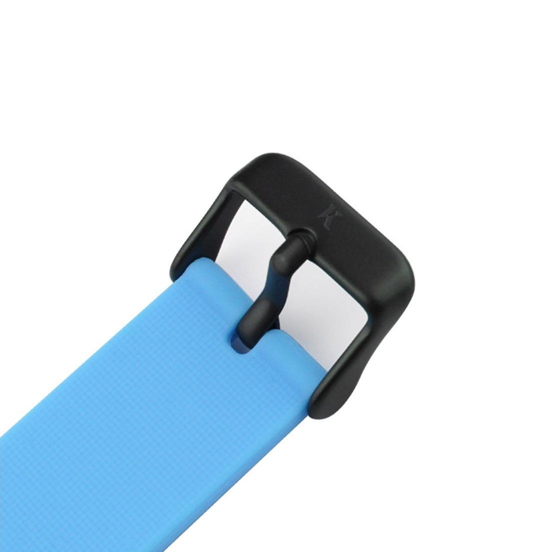 Neon Blue Silicone Watch - Clasp