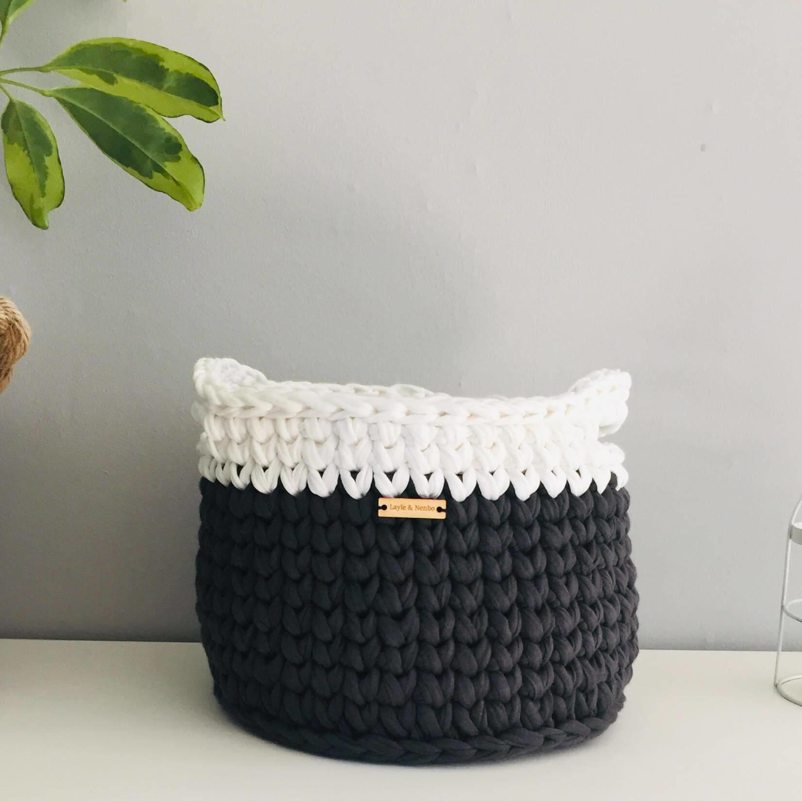 Recycled Crochet Baskets