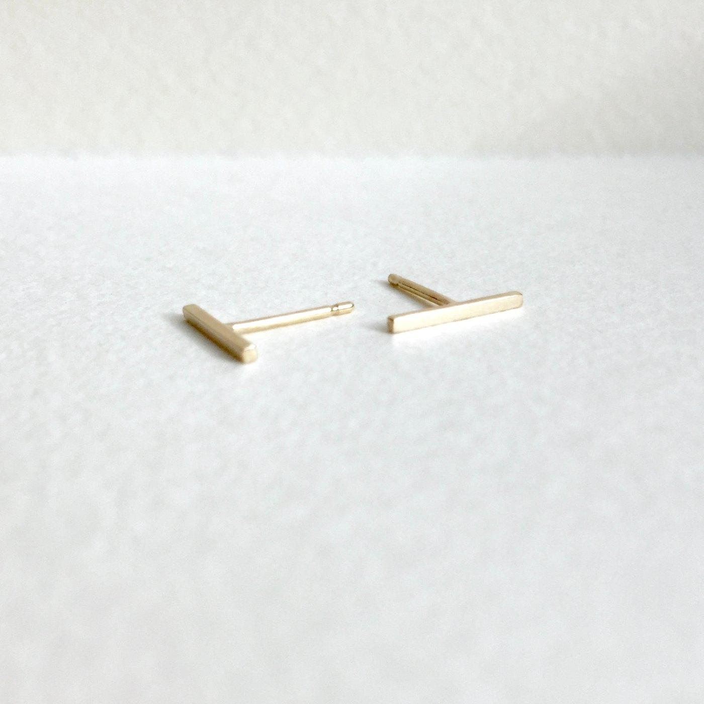 Recycled Gold Bar Studs