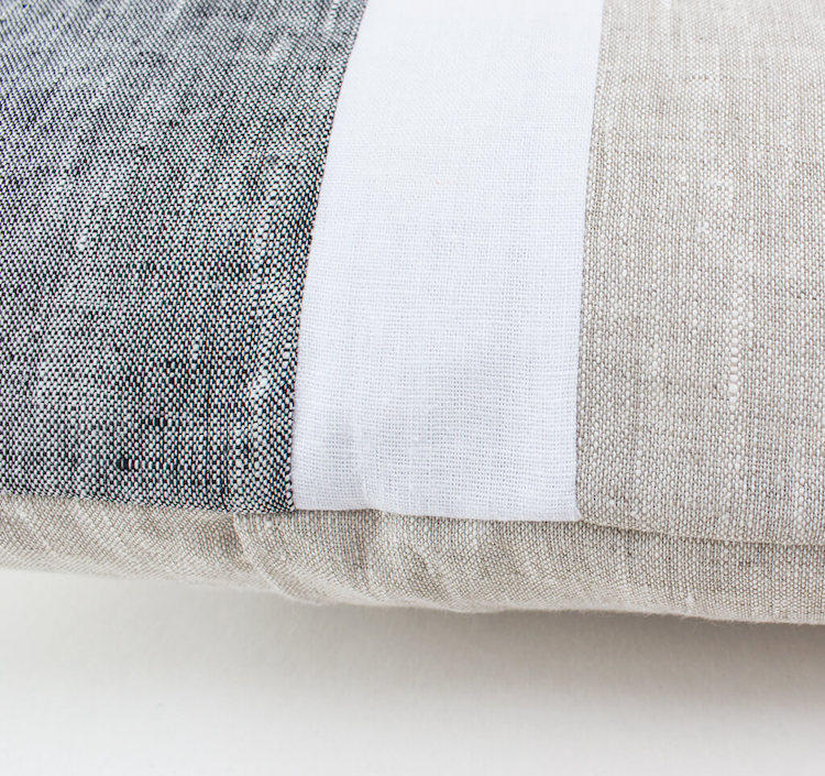 Linen & Stripes - Geometric Oblong Cushion Cover 2
