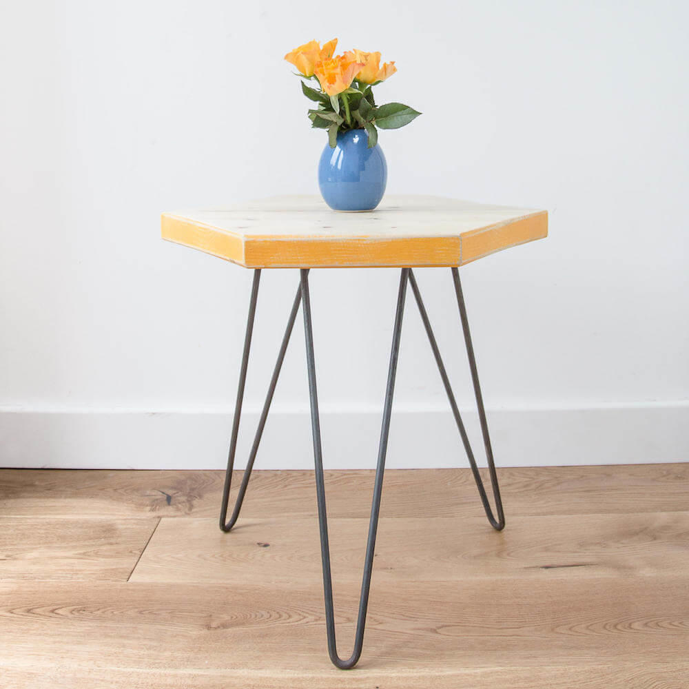 Made Anew - Hexagon Side Table 12