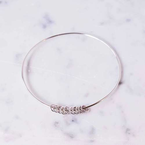 Bangle with Hoops
