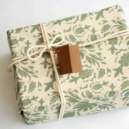 Damask Fabric Gift Wrap