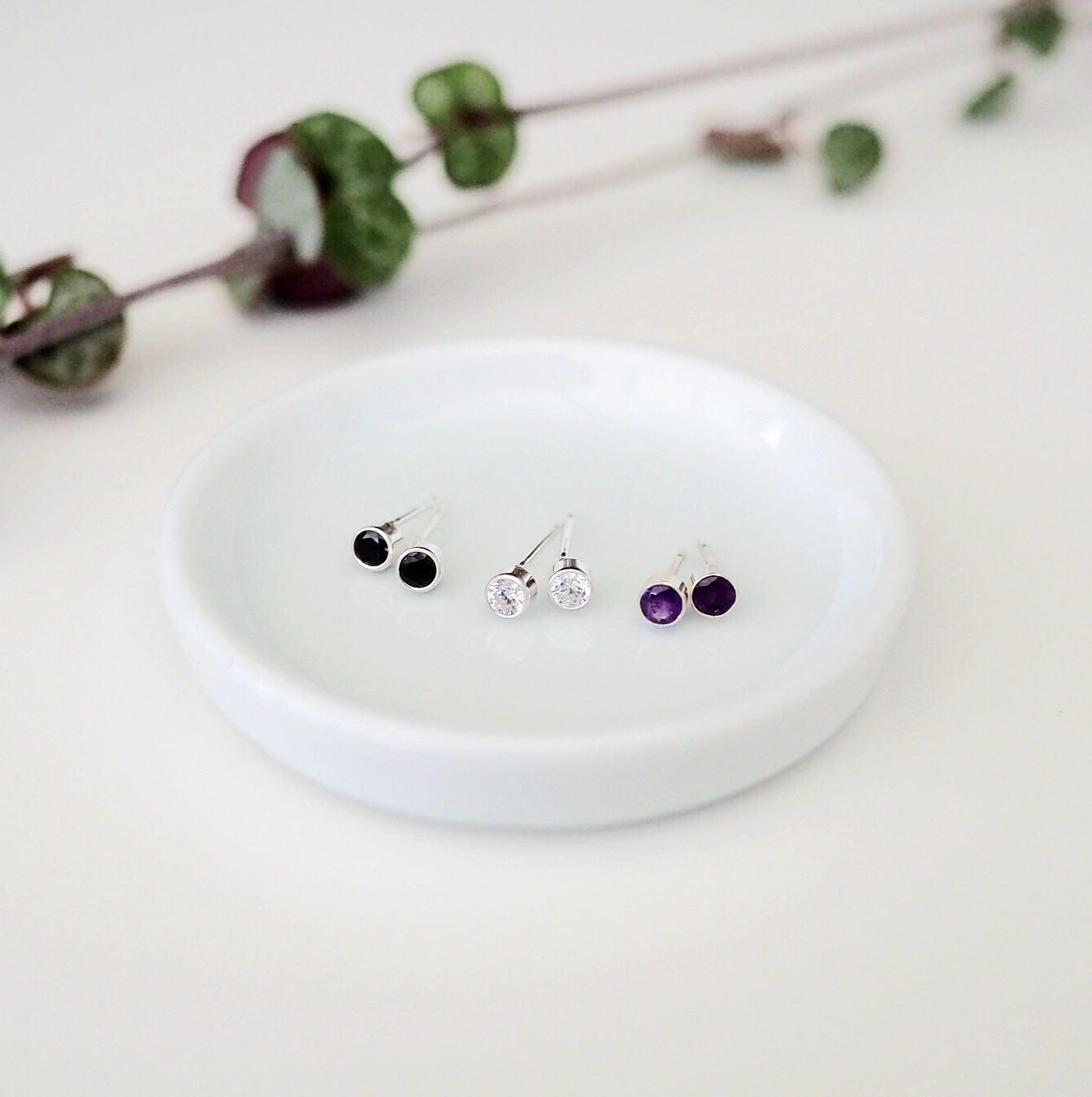 Ethical Gemstone Stud Earrings