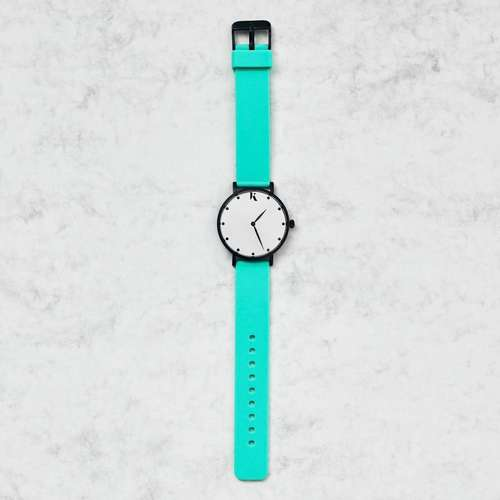 Turquoise Silicone Watch