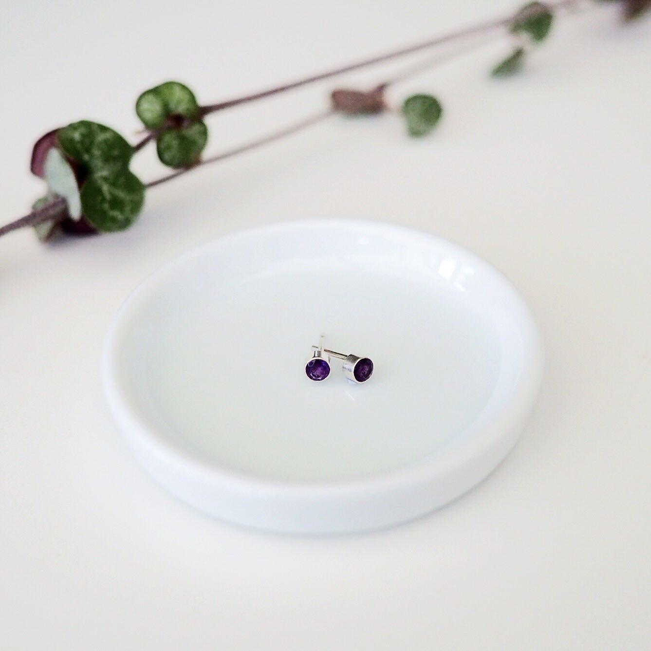 Amethyst Ethical Stud Earrings