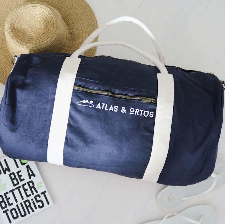 Organic Cotton Weekend Gym Bag Fair Trade Duffle Bag