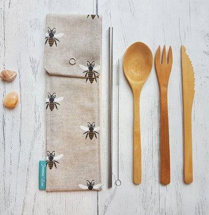 Bees Cutlery Pouch