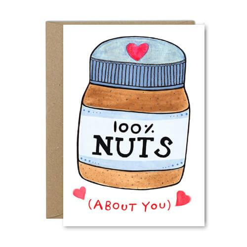 100% Nuts - Recycled Greeting Card