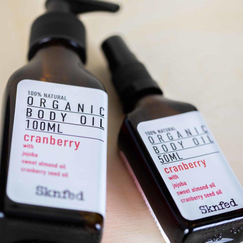 Cranberry body oil