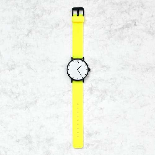 Neon Yellow Silicone Watch