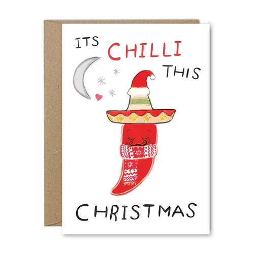 It's Chilli This Christmas - Recycled Greeting Card