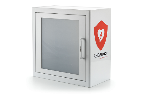 Aed Armor White Metal Indoor Cabinet With Alarm