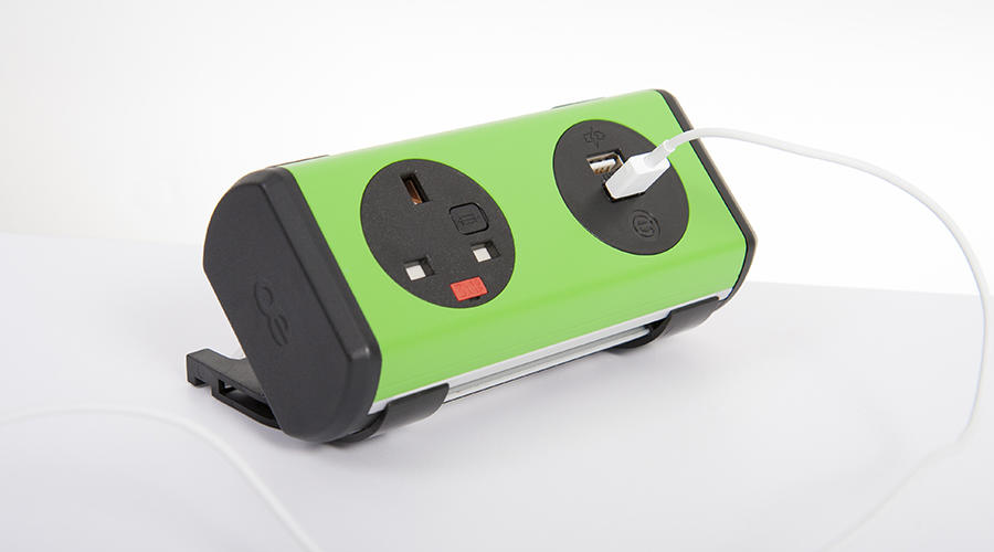 OE Electrics Green-Black  Panda Socket Unit