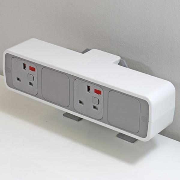 OE Electrics White-Grey Euro Pulse Socket Unit