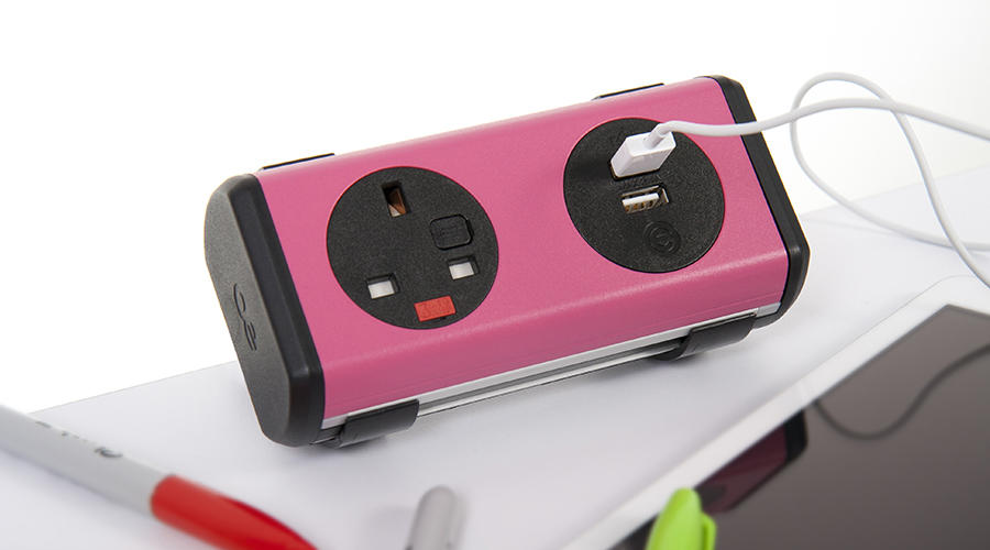 OE Electrics Pink-Black  Panda Socket Unit