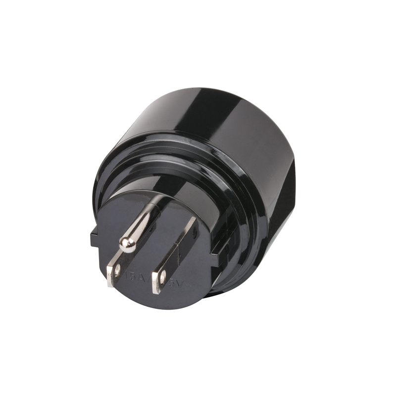 Adaptor US 15A NEMA Plug to DE Schuko Socket back