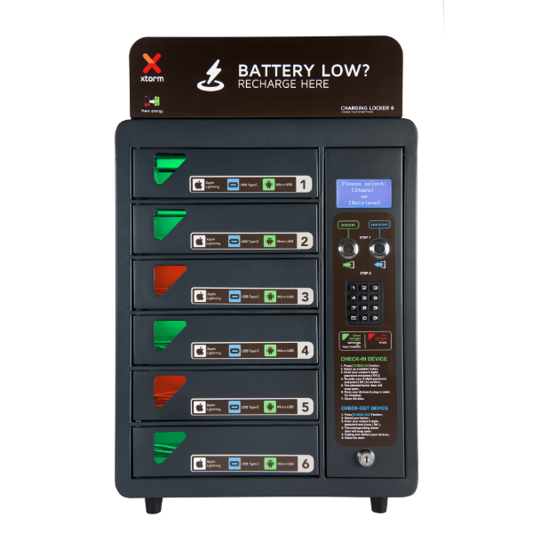 Xtorm Charging Locker 6 way front