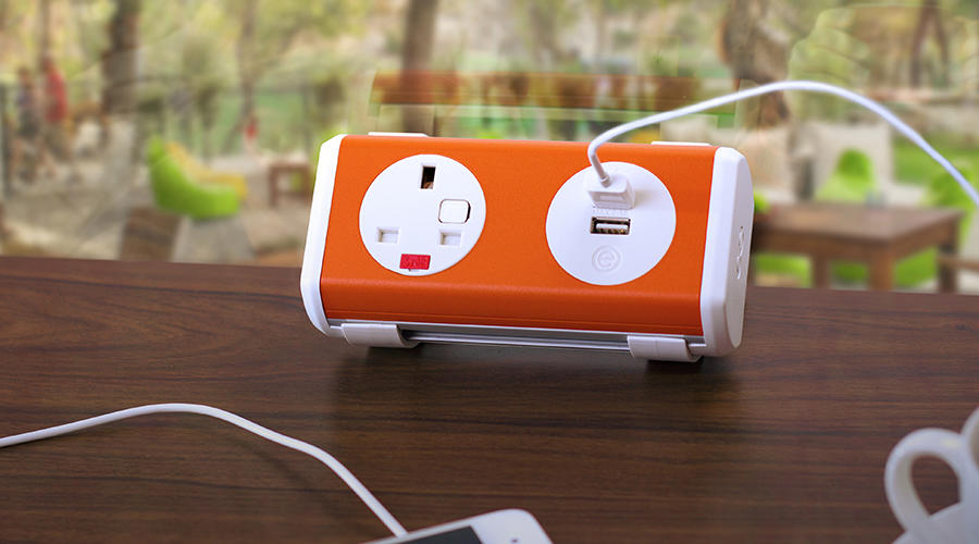 OE Electrics Orange-White  Panda Socket Unit