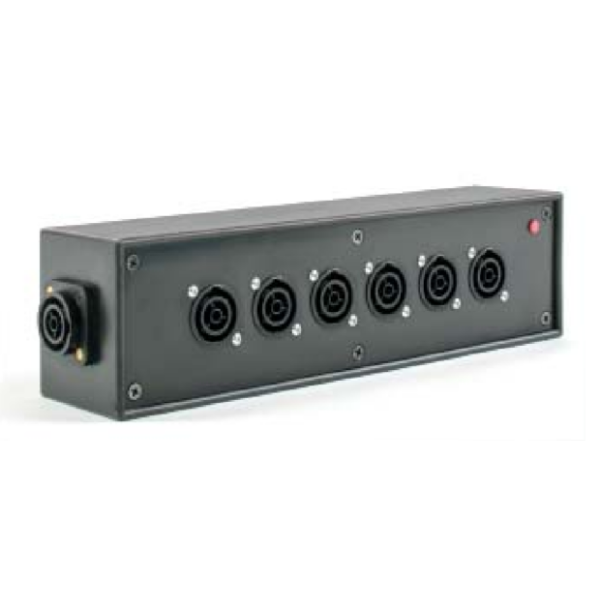 powerCON TRUE1 6way Distribution Box with link through